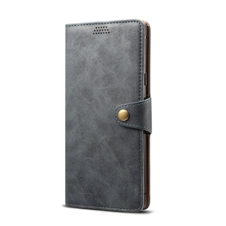 Lenuo Leather flipové pouzdro na Samsung Galaxy J6+, dark grey