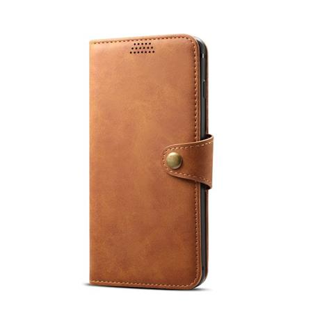 Lenuo Leather flipové pouzdro na Huawei Y5 2018, brown