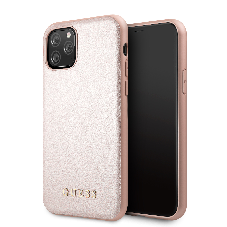 Guess Iridescent Zadní kryt GUHCN65IGLRG pro Apple iPhone 11 Pro Max rose