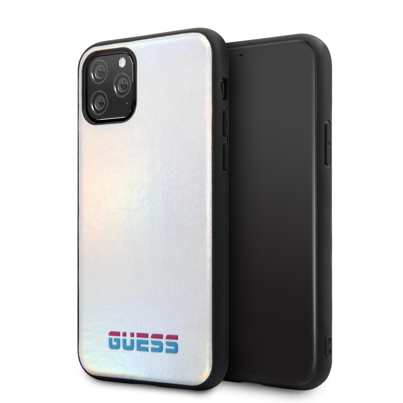 Guess Iridescent Zadní kryt GUHCN58BLD pro Apple iPhone 11 Pro silver