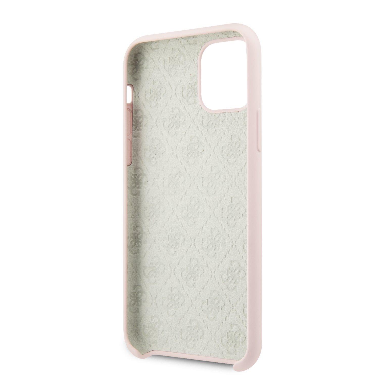 Guess 4G Tone on Tone Zadní kryt GUHCN61LS4GLP pro Apple iPhone 11 light pink