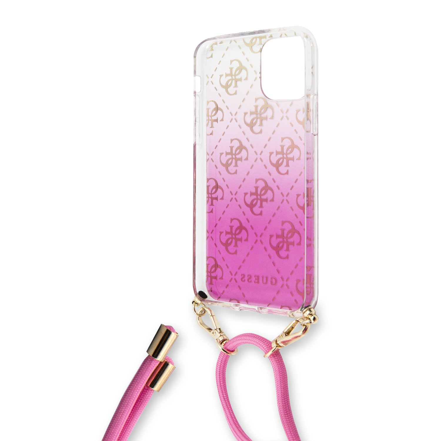 Guess 4G Gradient Zadní kryt GUHCN61WO4GPI pro Apple iPhone 11 pink