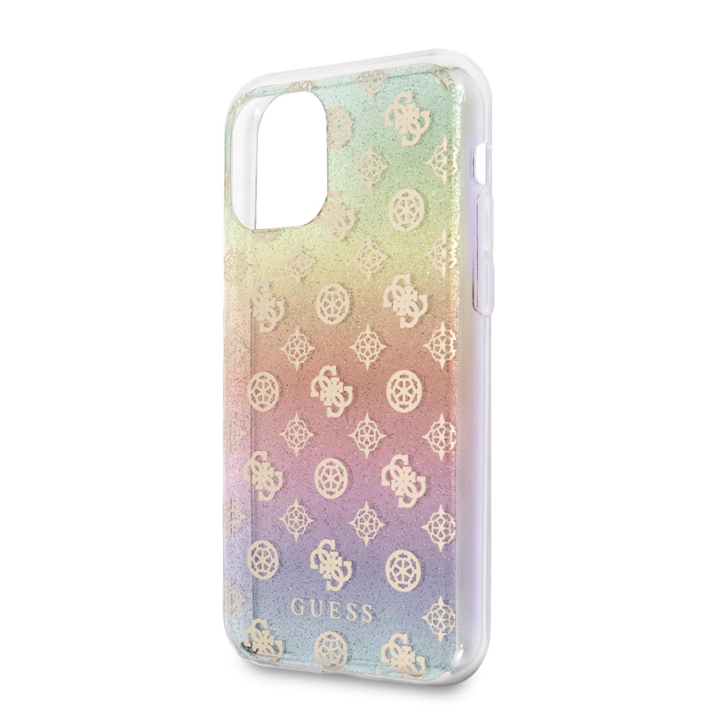 Guess Iridescent 4G Peony Zadní kryt GUHCN61PEOML pro Apple iPhone 11