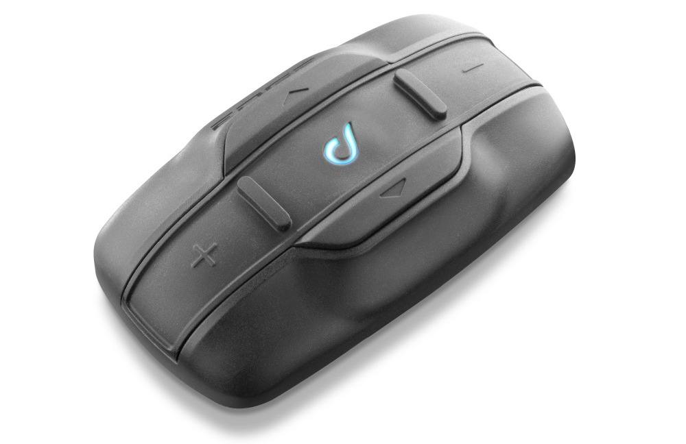 Bluetooth handsfree pro uzavřené a otevřené přilby CellularLine Interphone EDGE, Single Pack
