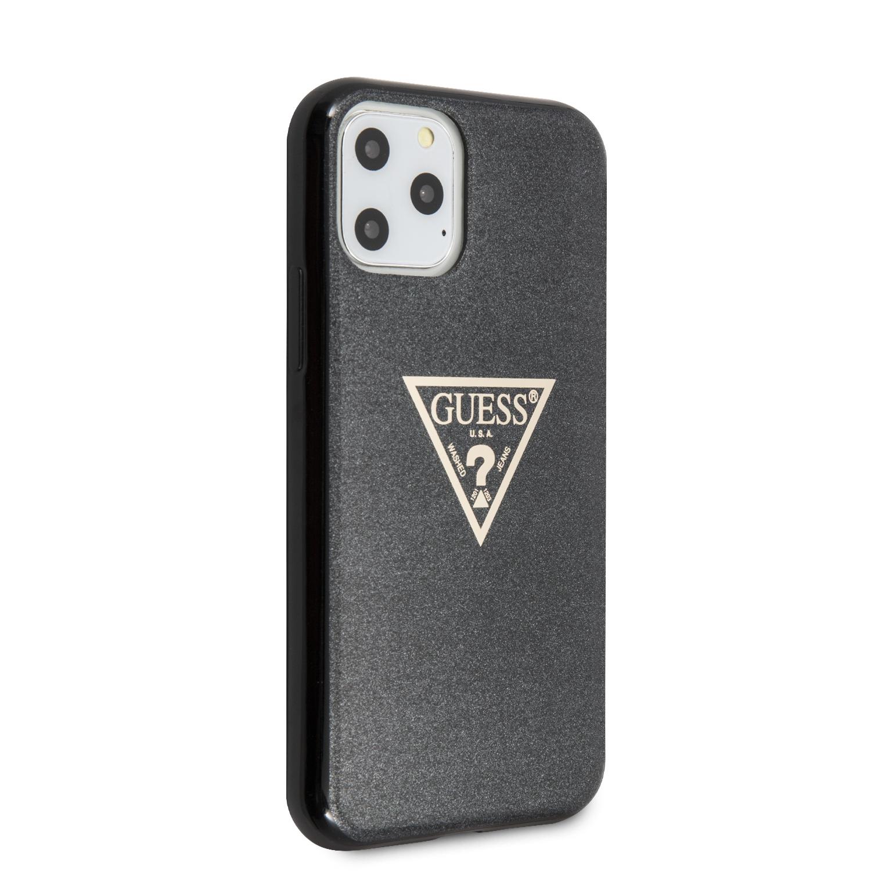 Guess Solid Glitter Zadní kryt GUHCN58SGTLBK pro Apple iPhone 11 Pro black