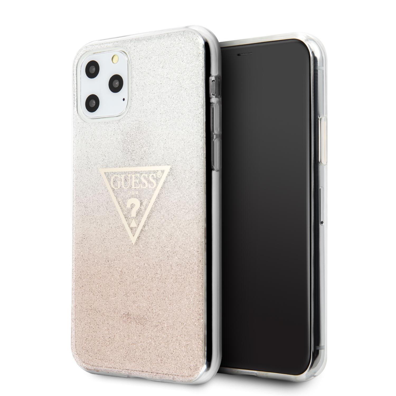Guess Solid Glitter Zadní kryt GUHCN58SGTLPI pro Apple iPhone 11 Pro pink