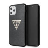 Guess Solid Glitter Zadní kryt GUHCN65SGTLBK pro Apple iPhone 11 Pro Max black