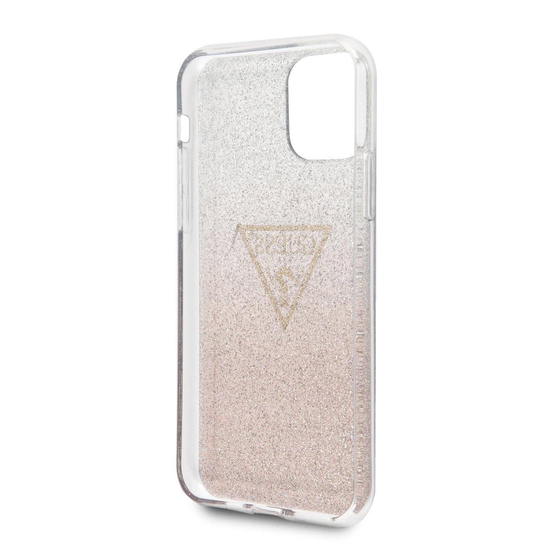 Guess Solid Glitter Zadní kryt GUHCN65SGTLPI pro Apple iPhone 11 Pro Max pink