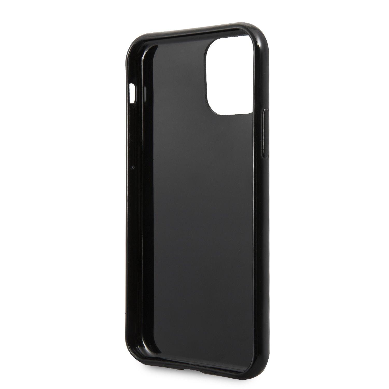 Guess Solid Glitter Zadní kryt GUHCN61SGTLBK pro Apple iPhone 11 black