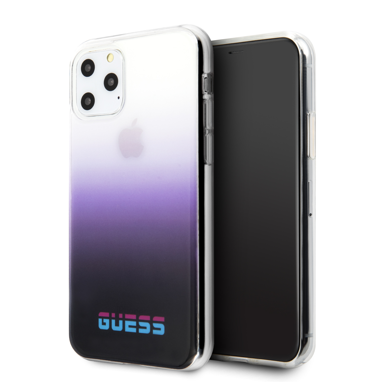 Guess California Zadní kryt GUHCN65DGCPU pro Apple iPhone 11 Pro Max purple