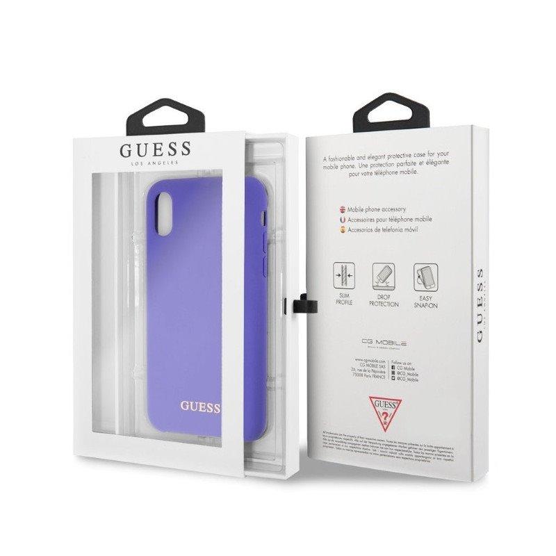 Guess silikonové pouzdro GUHCPXLSGLUV pro Apple iPhone X purple