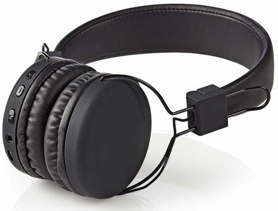 Bezdrátová bluetooth sluchátka Nedis HPBT1100BK černá