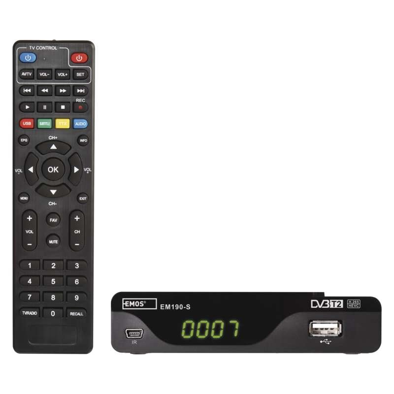 Set-top-box DVB-T2 Emos EM190-S HEVC/h.265, USB