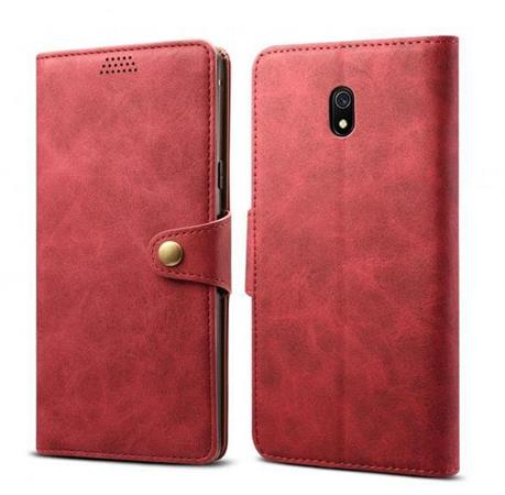Lenuo Leather flipové pouzdro na Xiaomi Redmi 8A, red