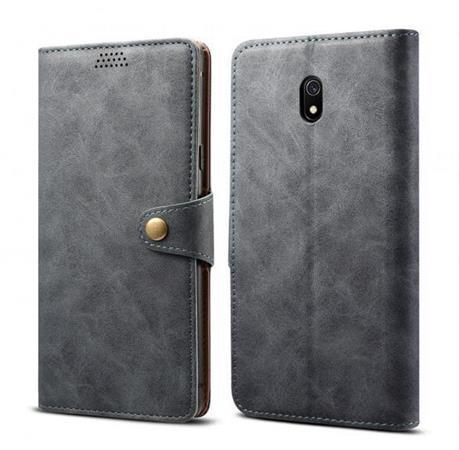 Lenuo Leather flipové pouzdro na Xiaomi Redmi 8A, grey