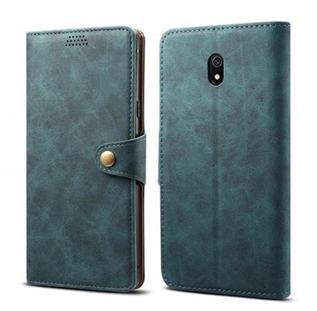 Lenuo Leather flipové pouzdro na Xiaomi Redmi 8A, blue