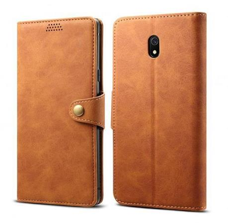 Lenuo Leather flipové pouzdro na Xiaomi Redmi 8A, brown