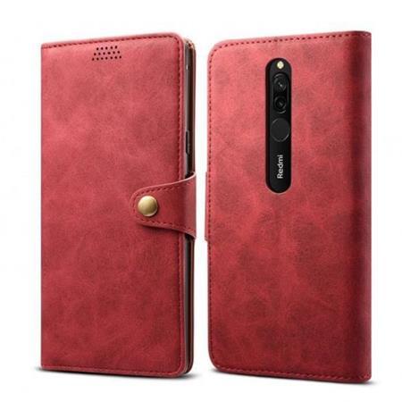 Lenuo Leather flipové pouzdro na Xiaomi Redmi 8, red