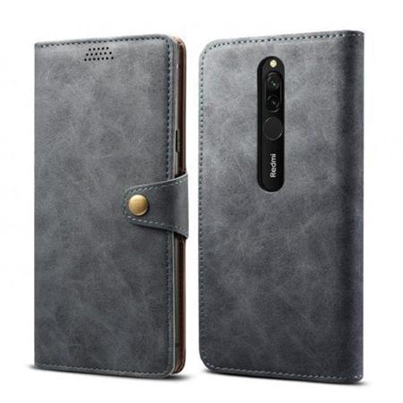 Lenuo Leather flipové pouzdro na Xiaomi Redmi 8, grey