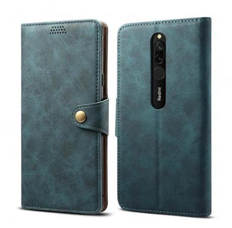 Lenuo Leather flipové pouzdro na Xiaomi Redmi 8, blue