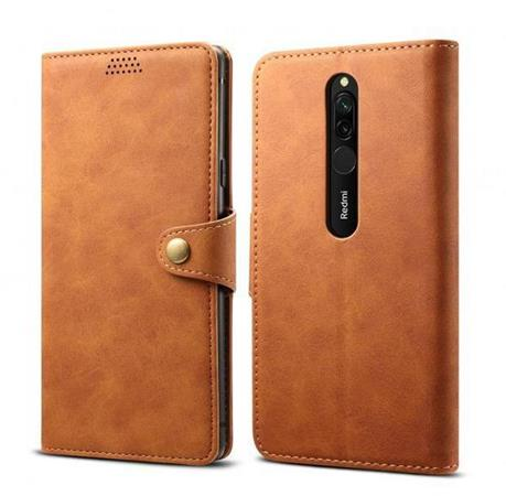 Lenuo Leather flipové pouzdro na Xiaomi Redmi 8, brown