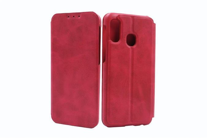 Flipové pouzdro Lenuo Lede pro Samsung Galaxy A20e, red