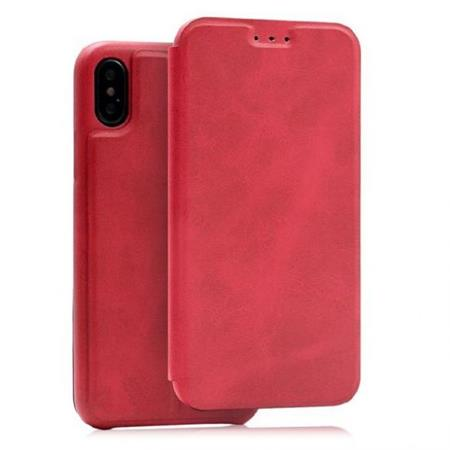 Flipové pouzdro Lenuo Lede pro Apple iPhone X/ XS, red