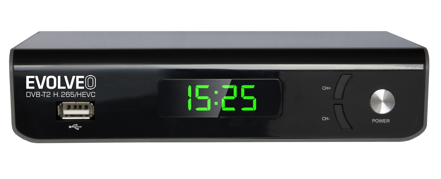 Tuner a rekordér Evolveo Omega II, WiFi HD DVB-T2 H.265/HEVC