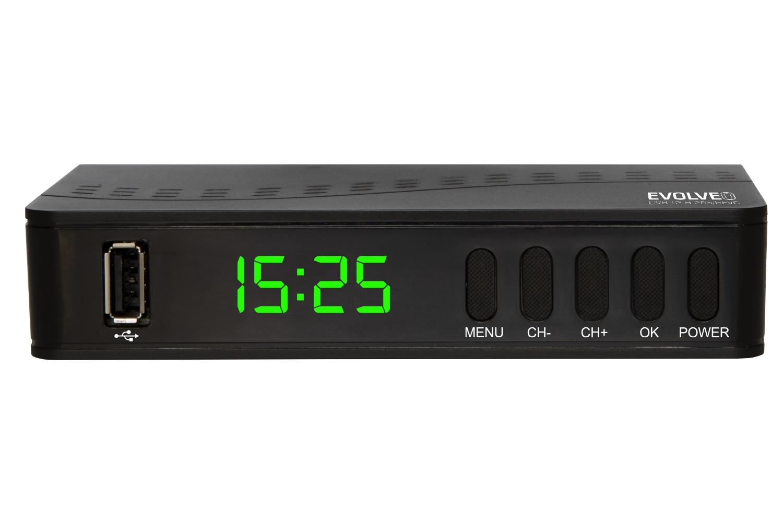 Tuner a rekordér Evolveo Alpha T2, HD DVB-T2 H.265/HEVC