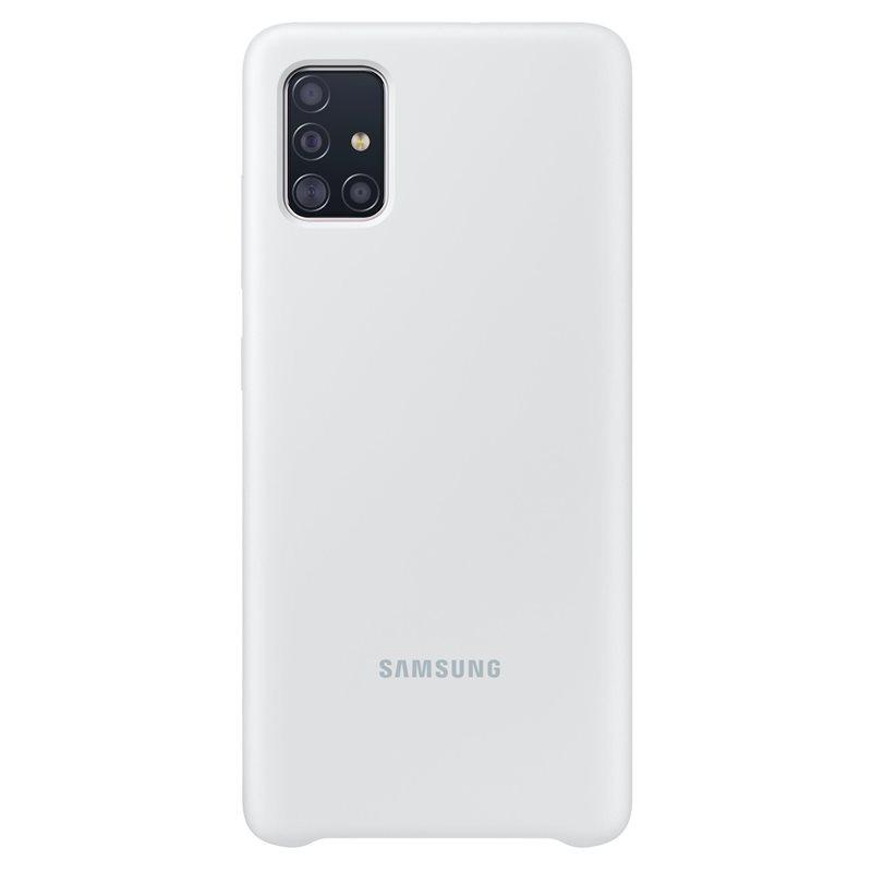Silikonové pouzdro Silicone Cover EF-PA515TWEGEU pro Samsung Galaxy A51, bílá