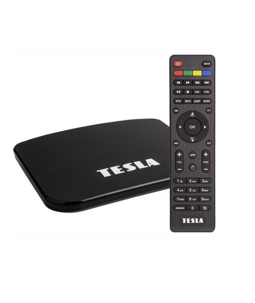 Multimediální centrum Tesla TEH-500, DVB-T2 HEVC FTA přijímač s OS Android 7.1 černá