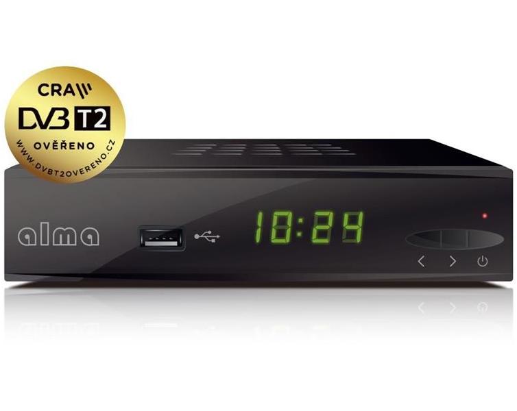 ALMA DVB-T/T2 přijímač 2860/ Full HD/ H.265/HEVC/ HDMI/ USB/ LAN/ SCART/ černá