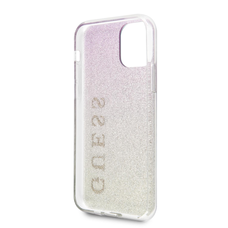 Guess Glitter Gradient Zadní kryt GUHCN61PCUGLGPI pro Apple iPhone 11 pink