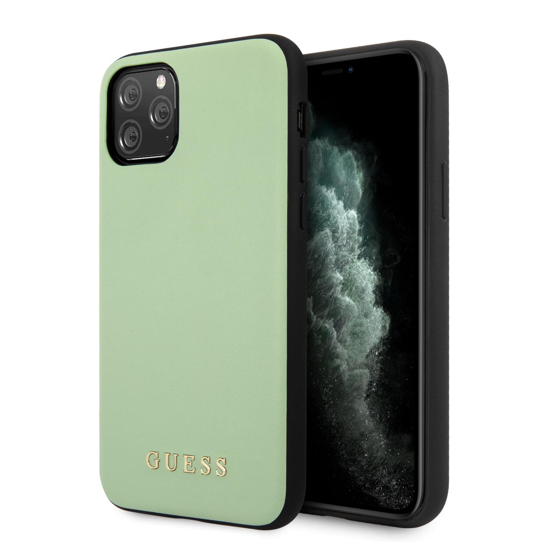 Guess Zadní kryt GUHCN65PUMGR pro Apple iPhone 11 Pro Max green Leather Zadní Kryt pro iPhone 11 Pro Max Green (EU Blister)