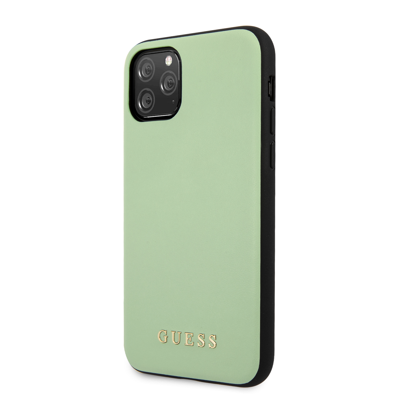 Guess Zadní kryt GUHCN65PUMGR pro Apple iPhone 11 Pro Max green