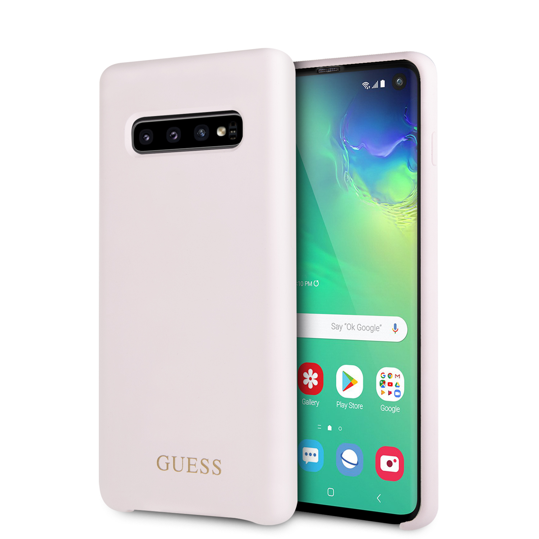 Guess Silikonový kryt GUHCS10LSGLLP pro Samsung Galaxy S10 pink
