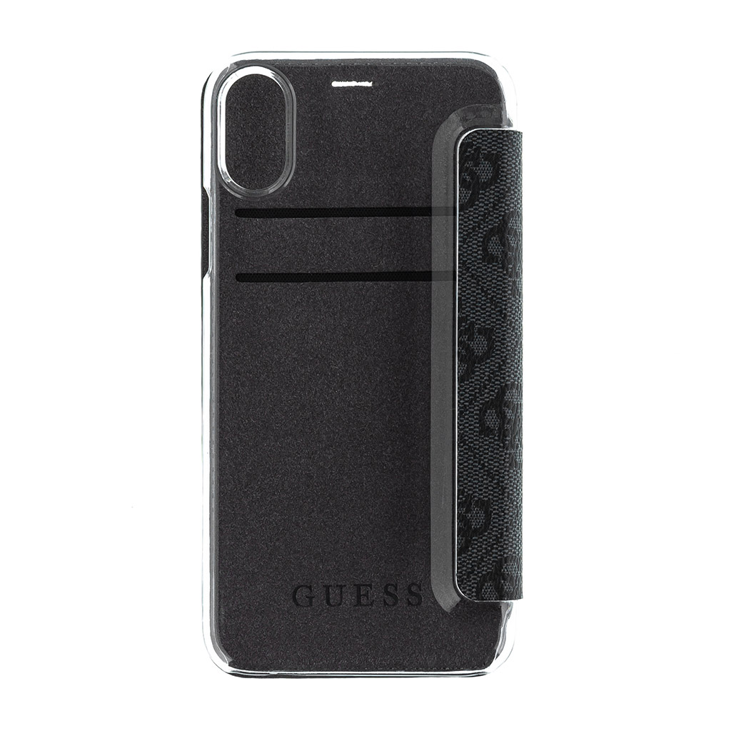 Guess Charms 4G pouzdro flip GUFLBKPXGF4GG pro Apple iPhone X / XS grey