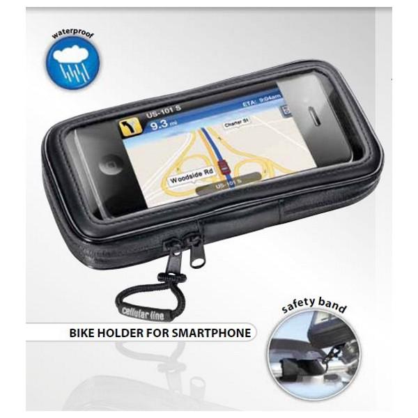 CellularLine Interphone SMSP - voděodolný držák a pouzdro na řídítka pro smartphone