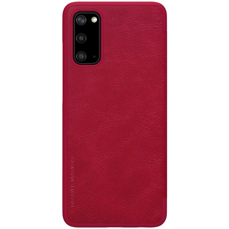 Nillkin Qin flipové pouzdro pro Samsung Galaxy S20 red