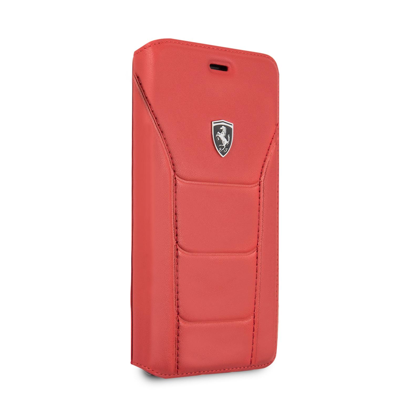 Ferrari Heritage 488 pouzdro flip FEH488FLBKI8LRE Apple iPhone 7/8 Plus red