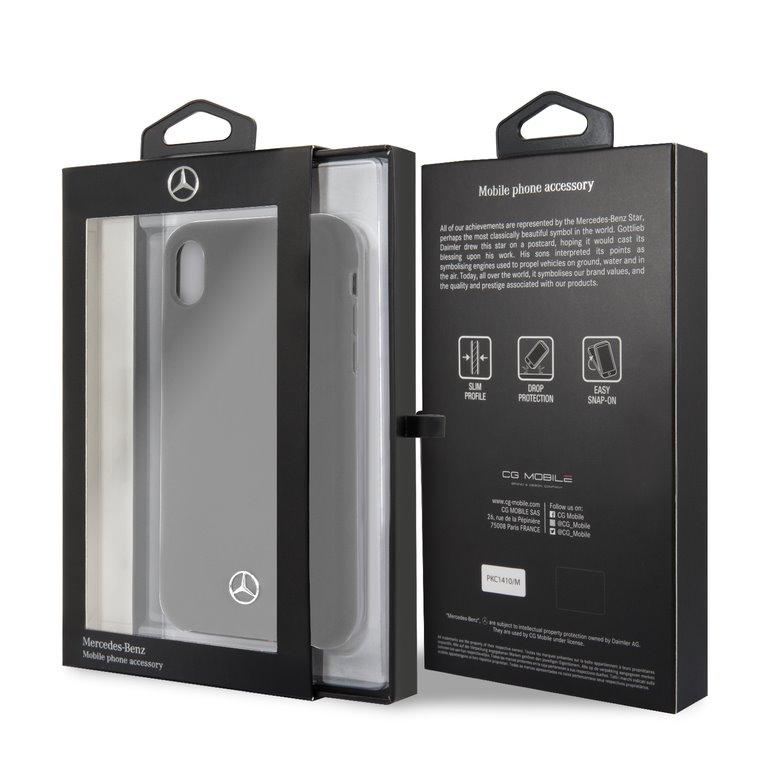 Mercedes Lining silikonové pouzdro MEHCI61SILGR pro Apple iPhone XR grey