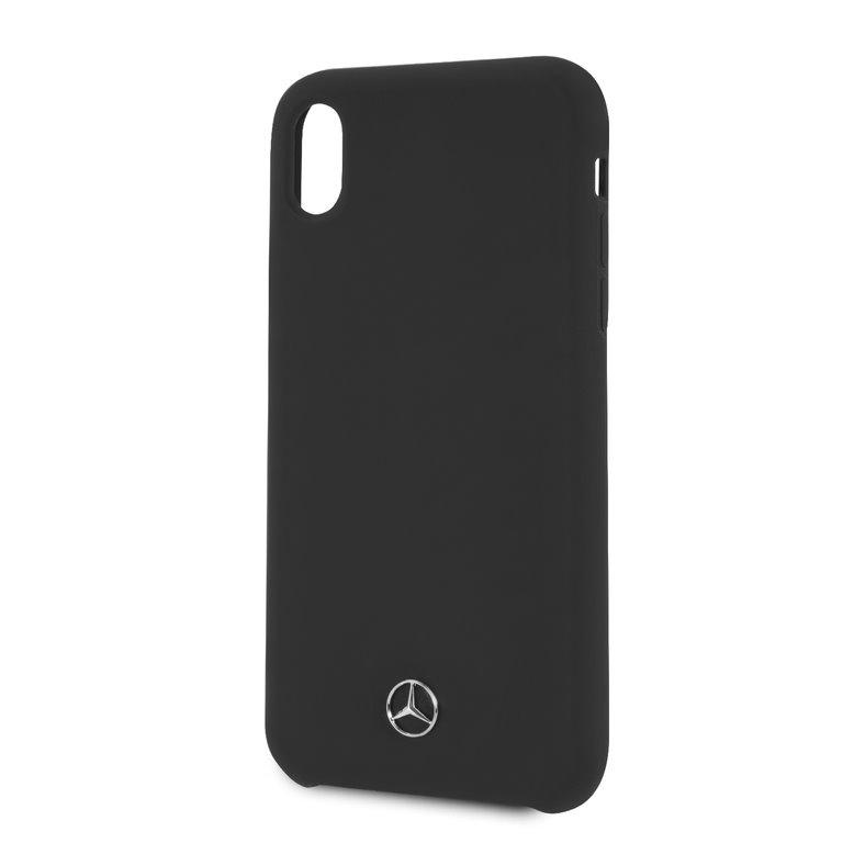 Mercedes Lining silikonové pouzdro MEHCI61SILBK pro Apple iPhone XR black