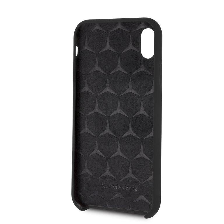 Mercedes Lining silikonové pouzdro MEHCI61SILBK pro Apple iPhone XR blackPhone XR