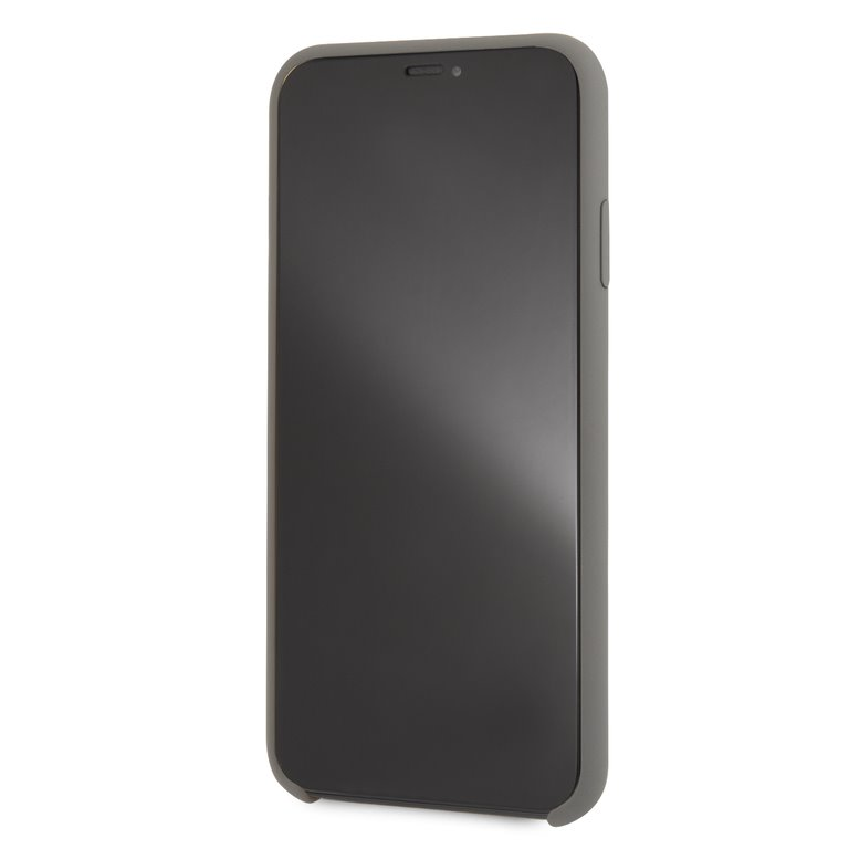 Mercedes Lining silikonové pouzdro MEHCI65SILGR pro Apple iPhone XS Max grey