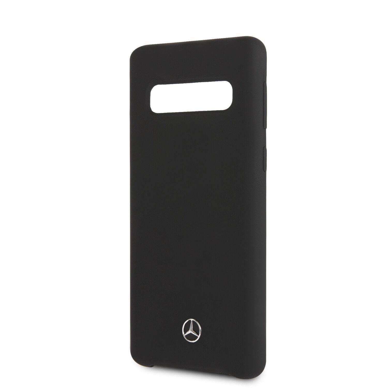 Mercedes Silikonový kryt MEHCS10SILBK pro Samsung Galaxy S10 black