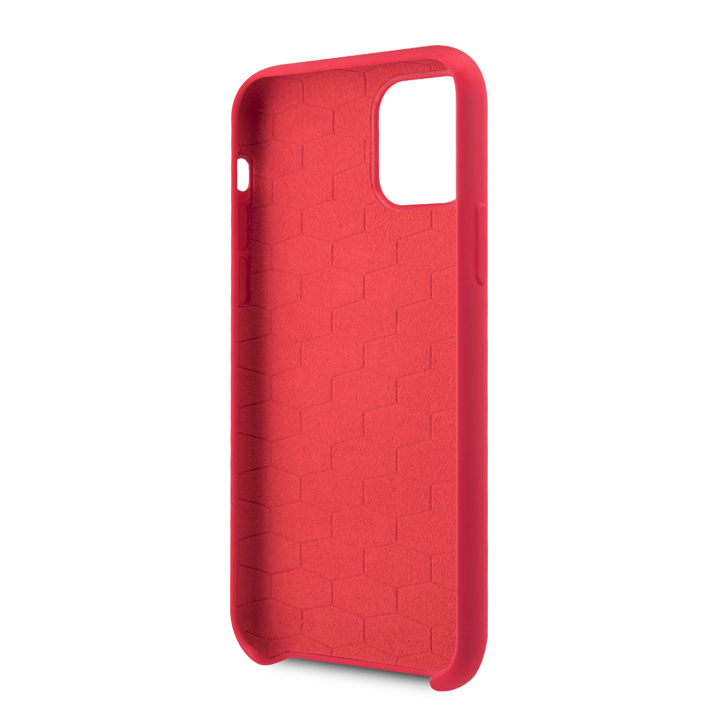 BMW M Silikonový kryt BMHCN65MSILRE pro Apple iPhone 11 Pro Max red