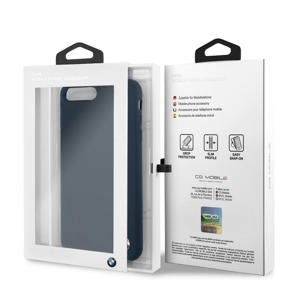BMW Signature silikonový kryt BMHCI8LSILNA pro Apple iPhone 8 Plus navy