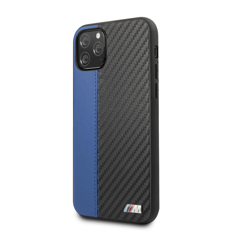 BMW Carbon Stripe zadní kryt BMHCN65MCARBL pro Apple iPhone 11 Pro Max blue