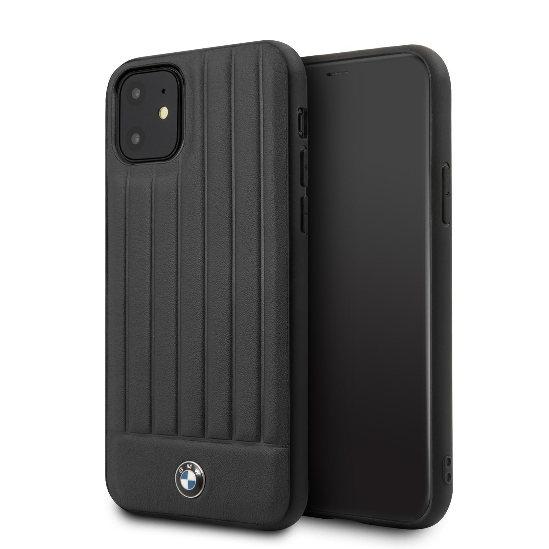 BMW Real Leather zadní kryt BMHCN61POCBK pro Apple iPhone 11 black