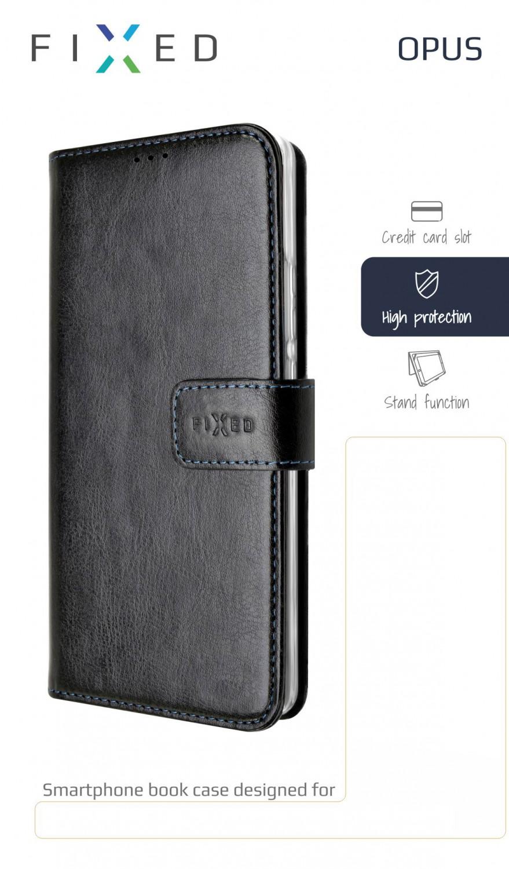 FIXED Opus flipové pouzdro pro Xiaomi Mi Note 10/10 Pro, černé